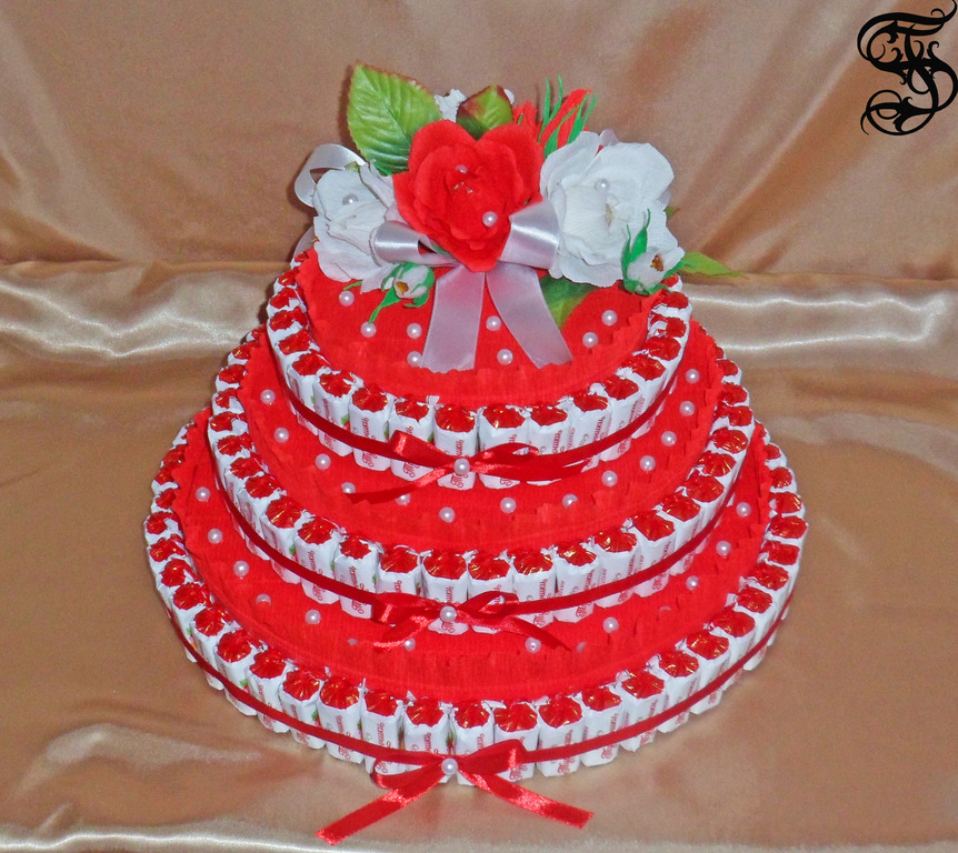 Торт из конфет своими руками на день рождения фото